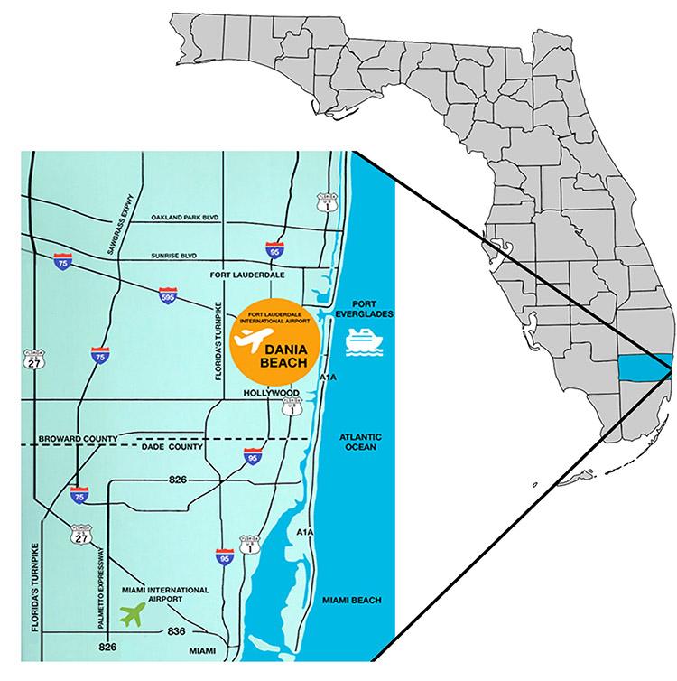 Dania Beach Florida Map.Invest Dania Beach Cra